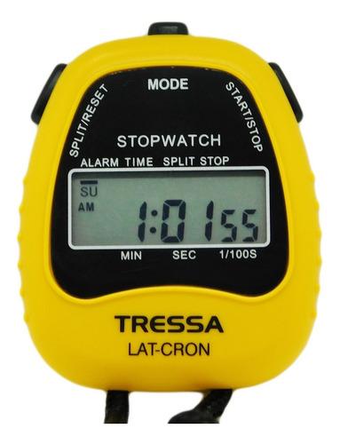 cronómetro tressa latcron deportivo amarillo j esponda