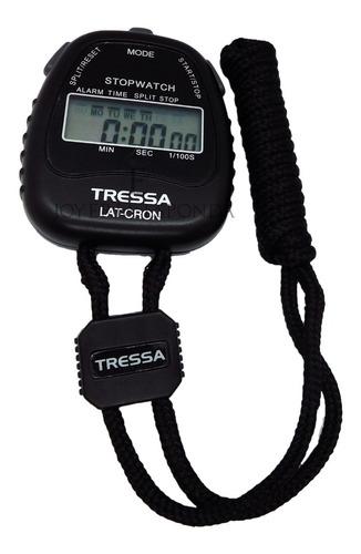 cronómetro tressa latcron deportivo negro j esponda