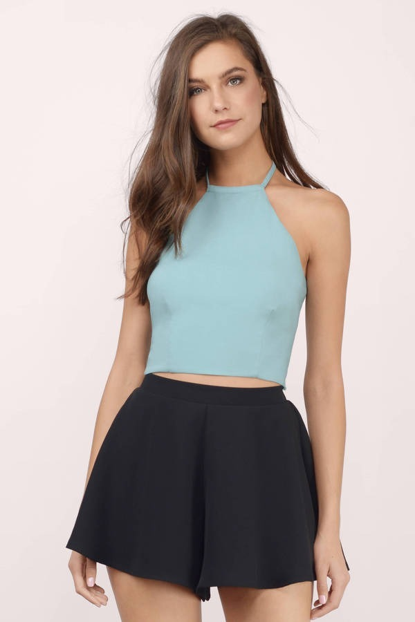 64b7a6151ee8 Crop Top Halter