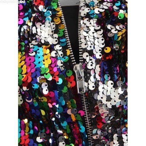 crop top sensual lentejuelas multicolor fiesta club mujer