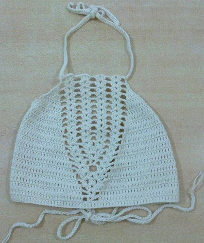 crop top tejidos crochet