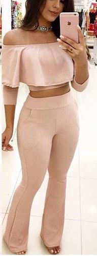 cropped blusa calça feminino