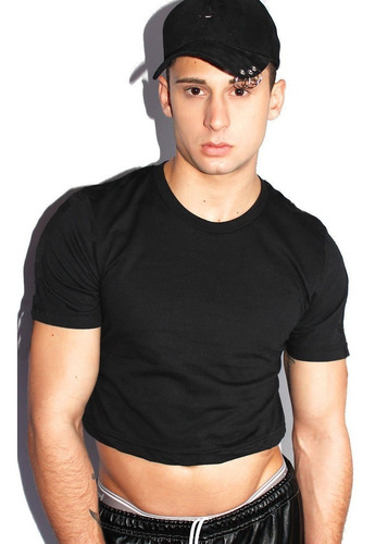 cropped camiseta masculina top crop