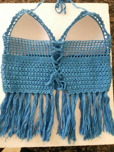 cropped crochê