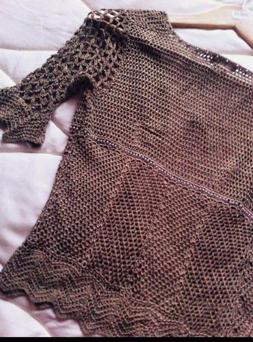 cropped crochet corto mango