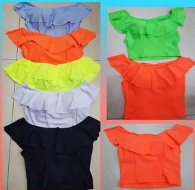 35ce3f4ca2 Blusa Cropped Babado Top E Tomara Que Caia - Camisetas e Blusas para ...