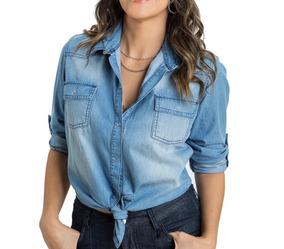 35159d632 Camisa Jeans Cropped - Calçados, Roupas e Bolsas no Mercado Livre Brasil