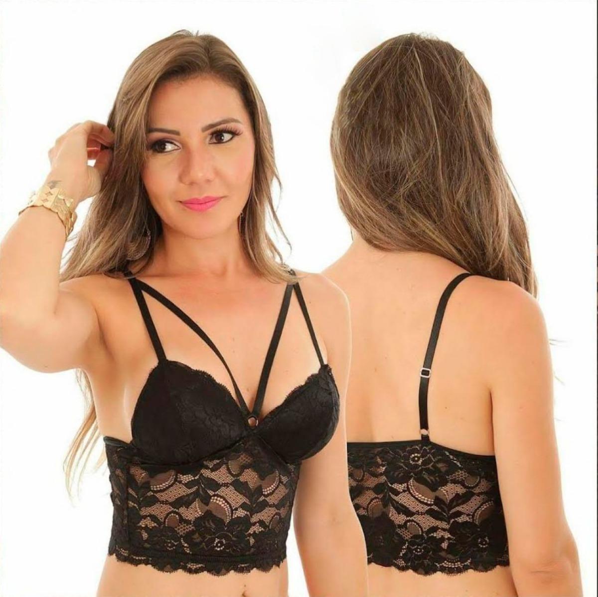 8dd18dd5e cropped renda sutian top blusa feminina strappy bojo moda. Carregando zoom.