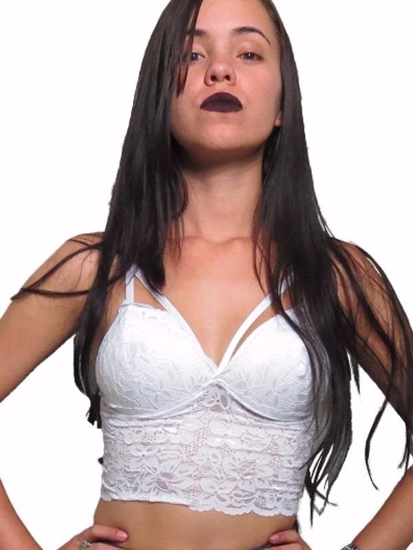 1b7f11012 cropped renda tiras com bojo blusa top sutiã moda blogueiras. Carregando  zoom.