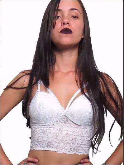 962d2c75c Cropped Renda Tiras Com Bojo Blusa Top Sutiã Moda Blogueiras - R  17 ...