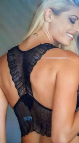 cropped sensual em renda e bojo lanç.2018