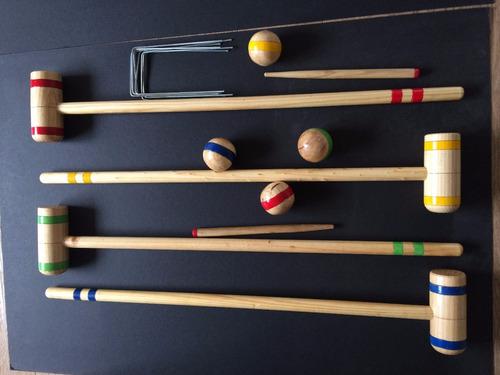croquet adulto criquett croquett juego madera
