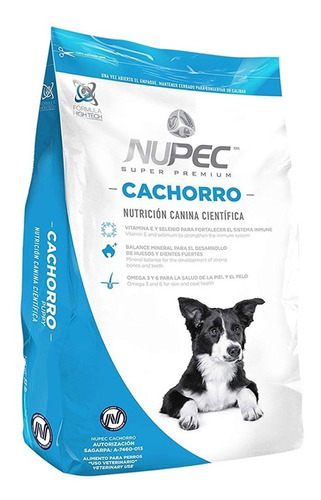 croquetas alimento perro raza mediana cachorro 20 kg nupec