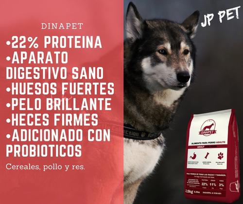 croquetas premium para perro dinapet 20kg, jp pet