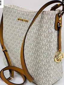 9752a76df Bolsa Michael Kors Crossbody Tiracolo - Bolsas de Couro Branco no ...