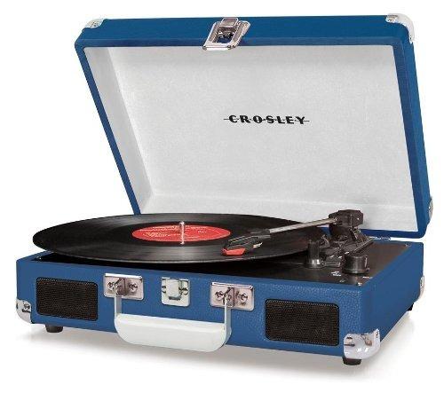 crosley cr8005a-bl cruiser tocadiscos portátil (azul)