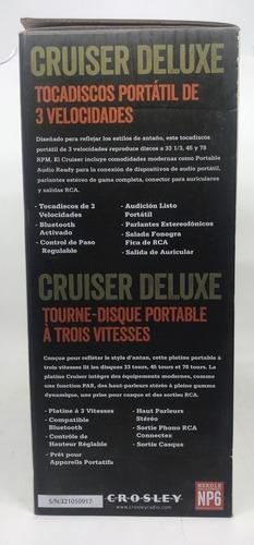 crosley cruiser deluxe vitrola  de 3 velocidades bluetooth