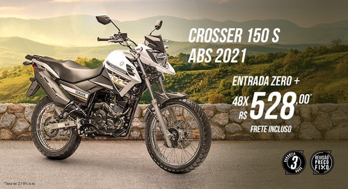 crosser 150 s abs - 2021 - sem entrada - yamaha sp - sem cnh