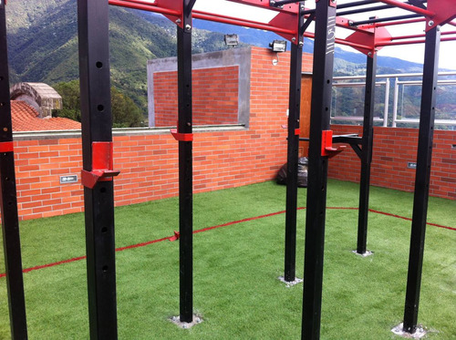 crossfit box y rack  crossfit : gym barras