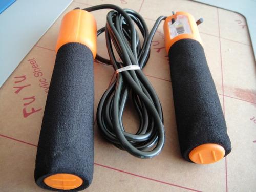 crossfit cuerda p/ saltar con contador mecanico, nueva