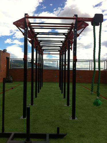 crossfit rack ; gym  cajas pilometricas