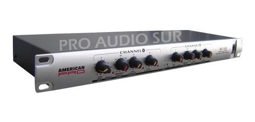 crossover american pro sc102  2 vias estereo tecshow ampro