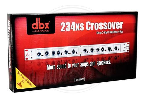crossover dbx 234xs stereo 2/3 way, mono 4-way  conect. xrl