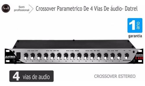 crossover parametrico de 4 vias de audio - som profissional