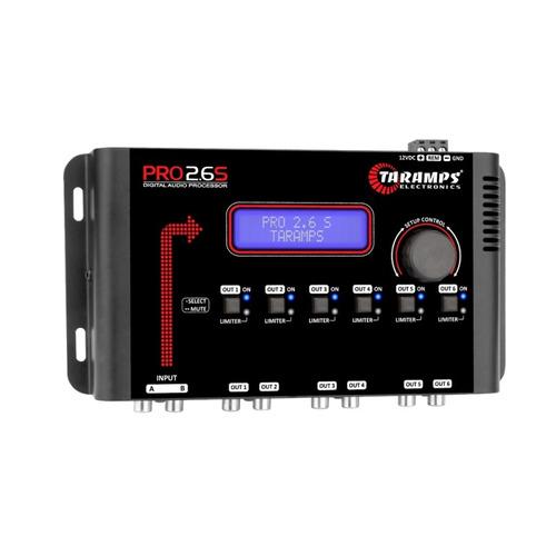 crossover processador equalizador taramps pro 2.6s digital