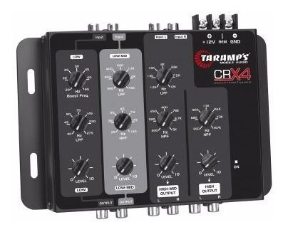 crossover taramps crx4 4 vias eletrônico mesa d/ som