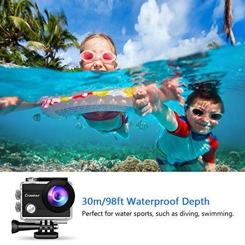 crosstour action  cámara submarina wifi 1080p full hd 12mp