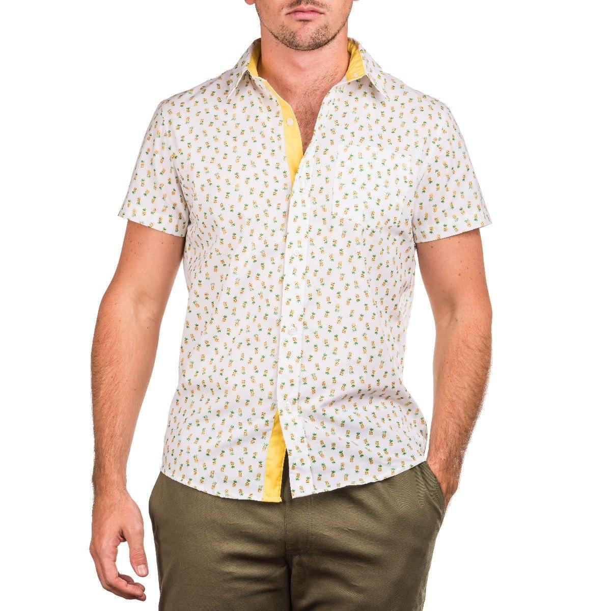 715c62bdc8afe Crouch - Camisa Manga Corta - Hombre - Estampada Piñas -   400