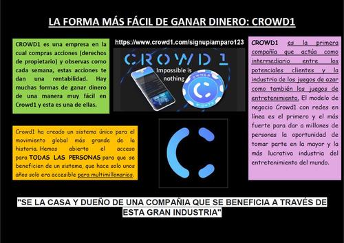 crowd1 la forma más fácil de hacer dinero legalmente.