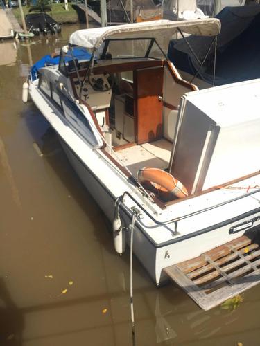 crucero aquamare 690 con motor ford y pata volvo 280