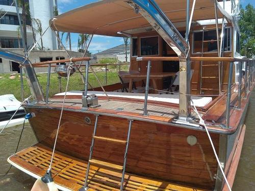 crucero clásico de madera reconquista en impecable estado!!!