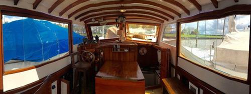 crucero de madera parodi 1947 140 hp