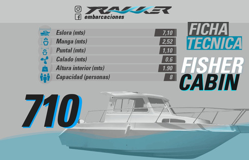 crucero fisher cabin 710
