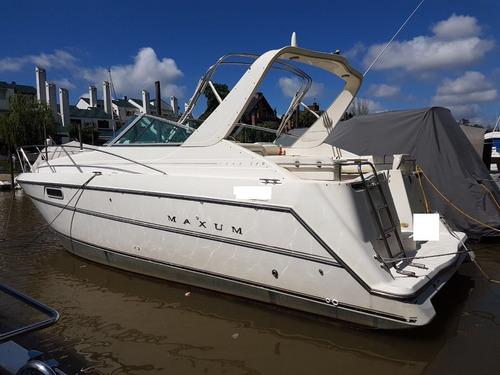 crucero maxum 3200 con mercruiser 2 x 330 hp nafta 1997
