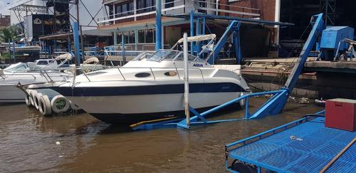 crucero renken 25 made in usa 1996 baño v8 duo prop permuto!