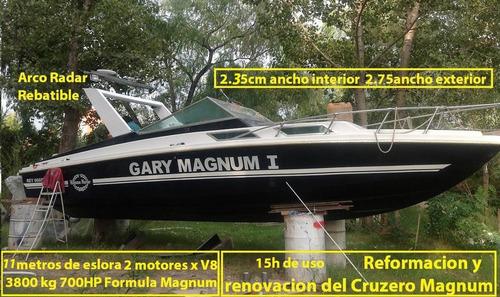 crucero sport 11metr 2motor chevrolet corvette 700 hp v8x2