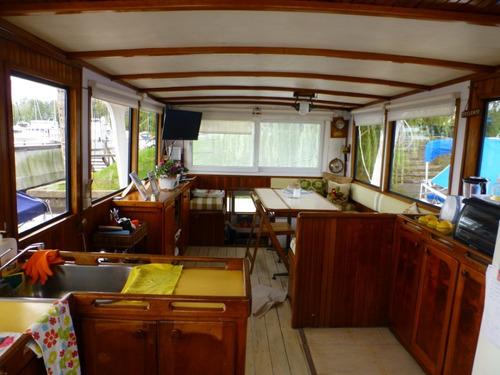 crucero trawler de acero naval 12.60 mts 2 mann dsl