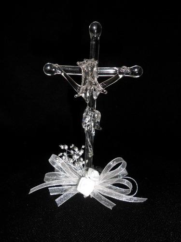 cruces crucifijo recuerdo de cristal para boda , comunion