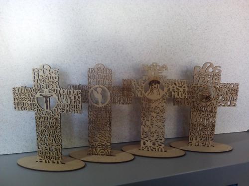 cruces diferentes oraciones 20cm mdf personalizado incl.
