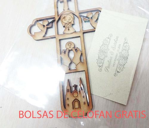 cruces para primera comunion  bolsitas celofan  gratis
