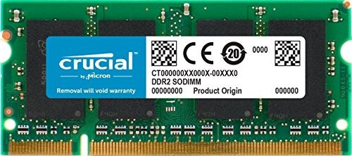 crucial 2gb single ddr2 800mhz (pc2-6400) cl6 sodimm 200-pin