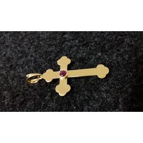 Crucifixo Em Ouro 18k Maciço Grande E Pesado