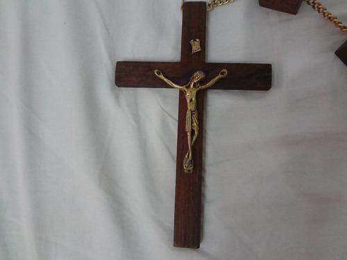 crucifixo ou terço  antigo de parede