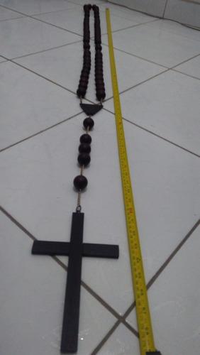 crucifixo, terço, grande, madeira, jacarandá da bahia, lindo