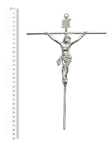 crucifixos de parede tradicional com rosto 32 cm r12