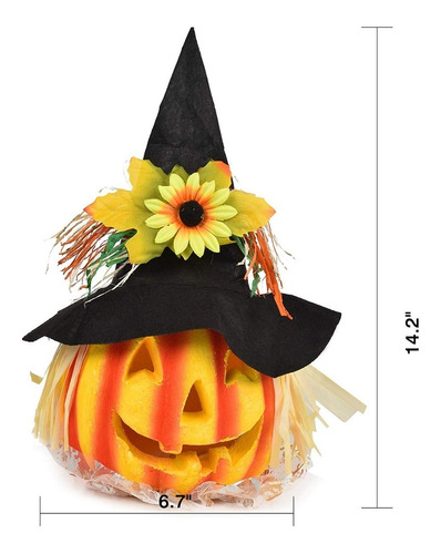 crusar halloween decoracion calabaza iluminada jardin 2pz